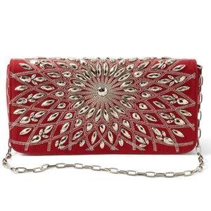 Auburn Starburst Clutch Shoulder Handbag Purse New